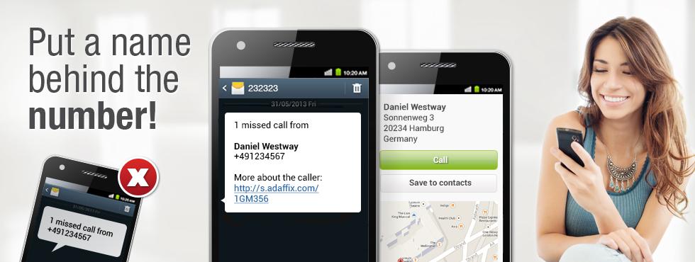 Caller ID Universe - adaffix