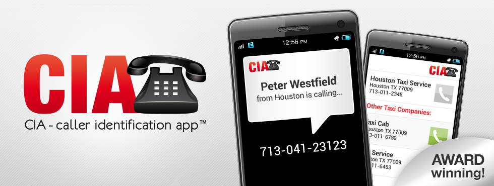 CIA -Caller Identification APP™is the world's most popular caller-id app including call blocker, contacts backup, update contacts, social results.